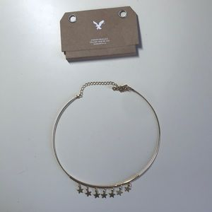 American eagle gold star choker necklace